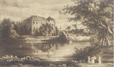 Alfred Schouppe_Zamek w Szydłowcu_rok 1880
