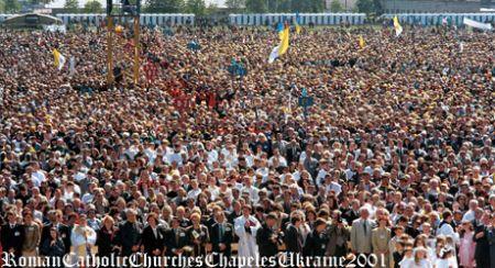 Msza na lwowskim hipodromie_czerwiec 2001