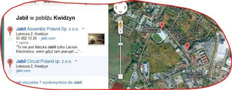 Jabil Circuit Kwidzyn_zdjęcie satelitarne