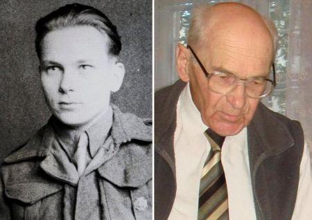 Zbigniew Martyński, ps. Gruda, kanonier z 1. plutonu baterii - już po powstaniu, w roku 2009_zdjęcia z archiwum 2.HBAP Żbik