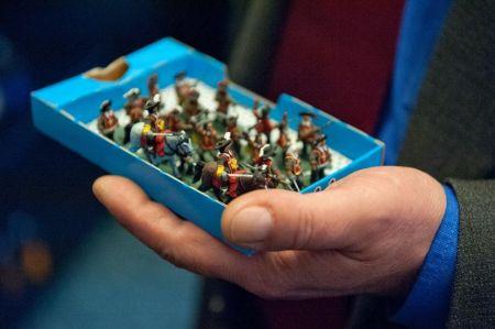 Miniaturowe, w skali 1:72, figurki Jankesów, konfederatów, westmanów, Kozaków, Turków, Niemców, Rosjan... zrobione z papieru, tektury, plastiku, żywic_fot. Marcin Żegliński